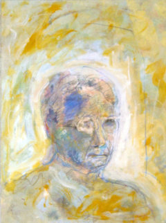 Remembering the Past Monotype 1999  Works on Paper (not prints) by Arthur Secunda