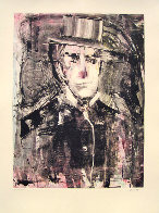 On the Town Monotype 2008 30x22 Works on Paper (not prints) by Arthur Secunda - 3