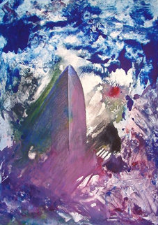 Sinking of the Titanic Monotype 2008 30x22 Works on Paper (not prints) by Arthur Secunda