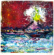 Etna Volcano Monotype 2008 30x23 Works on Paper (not prints) by Arthur Secunda - 4