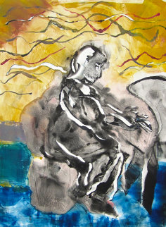 Mary Lou Williams 2010 30x22 Works on Paper (not prints) by Arthur Secunda
