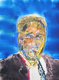 Artie Shaw Monotype 2010 30x22 Works on Paper (not prints) by Arthur Secunda