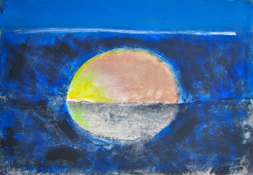 Sun and the Sea Monotype 2008 22x30 Works on Paper (not prints) by Arthur Secunda