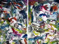 Eco System Dyptych Monotype 2008 Works on Paper (not prints) by Arthur Secunda - 1