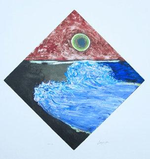 High Tide Monotype 2008 41x30 Works on Paper (not prints) - Arthur Secunda