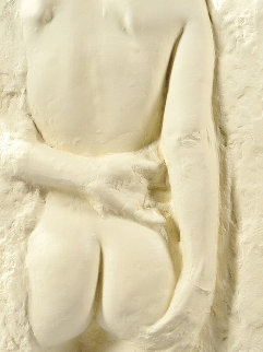 Gazing Woman Paper Cast Sculpture 1985 26 in Sculpture - George Segal