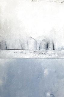 Mapping Underground Water   Diptych 2009 58x30 Huge Original Painting - Steven Seinberg