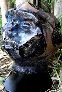 Man Through the Ages Unique Glass Sculpture 2010 10 in Sculpture - Ron Seivertson