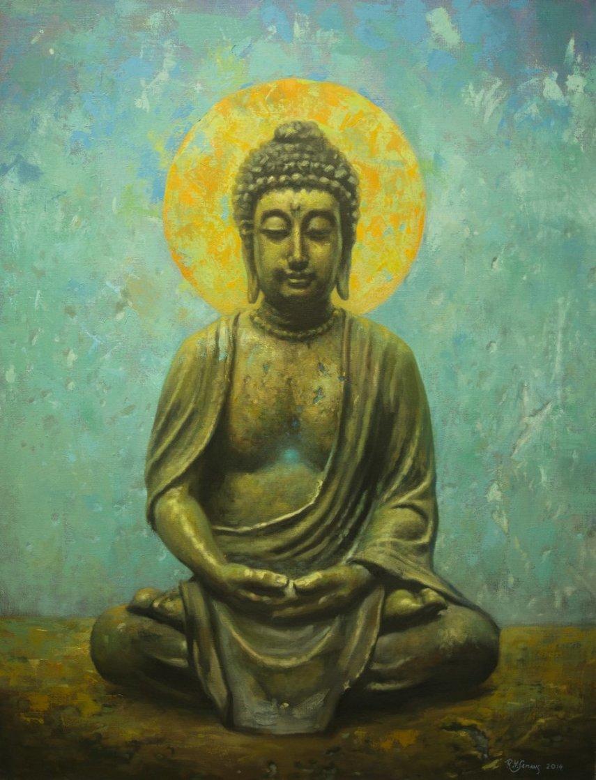 Buddha 2015 40x30 Original Painting by Robert Semans