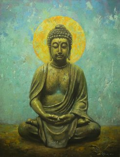 Buddha 2015 40x30 Original Painting - Robert Semans