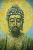Buddha 2015 40x30 Original Painting by Robert Semans - 1