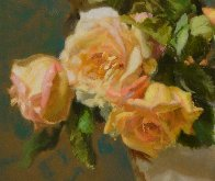 Lennox Vase With Roses 2017 18x14 Original Painting by Robert Semans - 1
