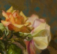 Lennox Vase With Roses 2017 18x14 Original Painting by Robert Semans - 2
