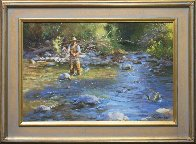 Fly Fisherman 2016 23x29 Original Painting by Robert Semans - 1