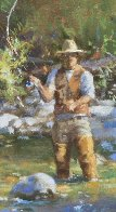 Fly Fisherman 2016 23x29 Original Painting by Robert Semans - 2
