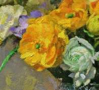 Icelandic Poppies And Ranunculus 2017 30x36 Original Painting by Robert Semans - 2