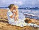 Mother And Child on the Beach Limited Edition Print by Jane Seymour - 0