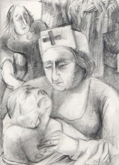 Nurse Drawing 15x13 Drawing - Ben Shahn