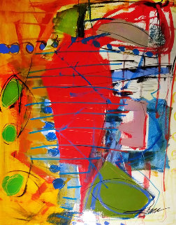 Thunderclap Music 2007 48x36 Original Painting - Shana Dominguez