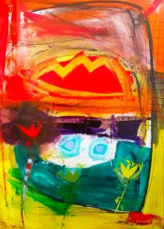 Flower Awareness 2006 48x36 Original Painting - Shana Dominguez