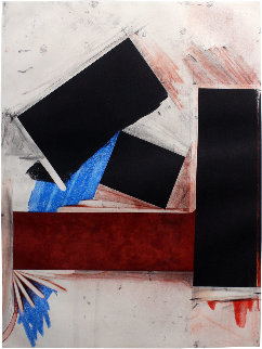 Untitled (Red Square/with Blue) 1992 Limited Edition Print by Joel Shapiro