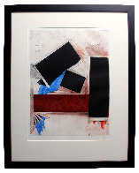 Untitled (Red Square/with Blue) 1992 Limited Edition Print by Joel Shapiro - 1
