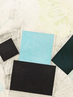 Untitled (Blue Square With Green) 1992 Limited Edition Print by Joel Shapiro