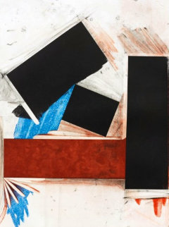 Untitled (Red Square With Blue) Limited Edition Print by Joel Shapiro