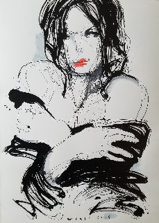 Portrait 02 32x24 Works on Paper (not prints) by Victor Sheleg