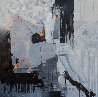 Ashen Flower 2018 59x59 Original Painting by Victor Sheleg - 0