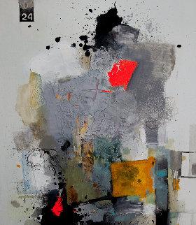 Art Reaction 2019 35x31 Original Painting by Victor Sheleg