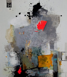 Art Reaction 2019 35x31 Original Painting by Victor Sheleg