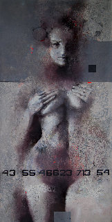 Genesis 2019 47x23 Huge Original Painting - Victor Sheleg