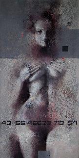 Genesis 2019 47x23 Original Painting by Victor Sheleg