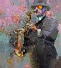 Sound Vibrations 2019 39x35 Original Painting by Victor Sheleg - 0