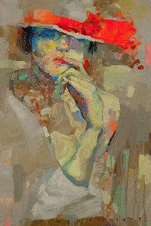 Sunny Girl 2019 24x16 Original Painting - Victor Sheleg
