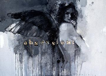 Obsession! 2019 39x55 Super Huge Original Painting - Victor Sheleg