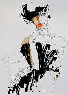 Lady 2  2019 25x18 Works on Paper (not prints) - Victor Sheleg