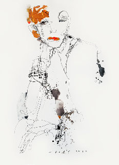 Lady 4 2019 25x18 Works on Paper (not prints) by Victor Sheleg