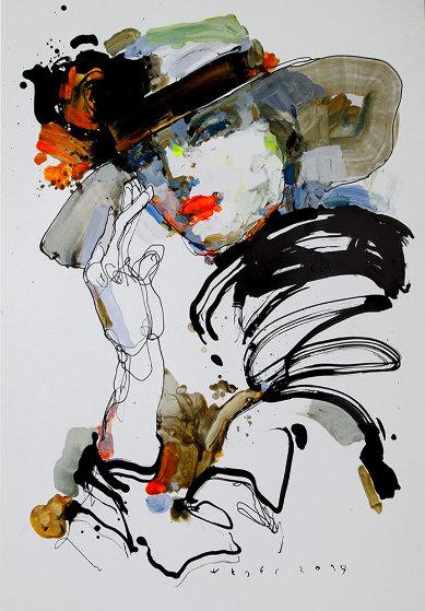 Lady 6 2019 28x20 Original Painting by Victor Sheleg