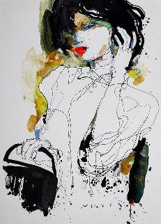 Lady 8 2019 28x20 Original Painting by Victor Sheleg