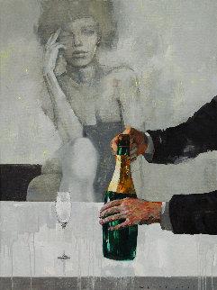 Brut 2019 35x47 Original Painting by Victor Sheleg