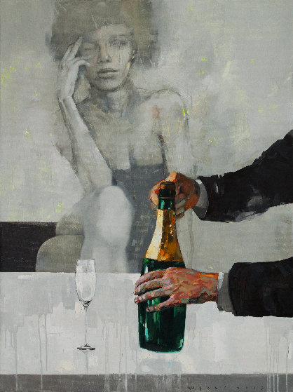Brut 2019 35x47 Original Painting by Victor Sheleg