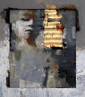 Thing 2 2019 32x28 Original Painting by Victor Sheleg