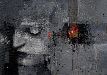 Thing No. 5 2019  27x39 Original Painting - Victor Sheleg