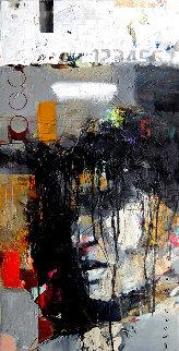 Thing 3 2019 28x14 Original Painting - Victor Sheleg