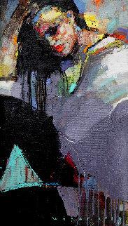 Relax 2 2019 28x16 Original Painting - Victor Sheleg