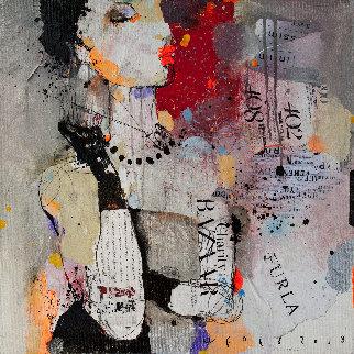 Posing Girl 2018 20x20 Original Painting by Victor Sheleg