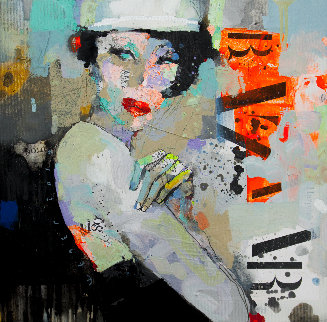 Girl-Holiday 2019 20x20 Original Painting by Victor Sheleg