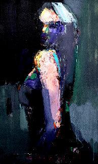 Turn Around 2019 39x24 Original Painting - Victor Sheleg